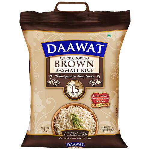Quick Cook Brown Rice  Buy Daawat Basmati Rice Brown Quick Cooking 5 Kg Pouch