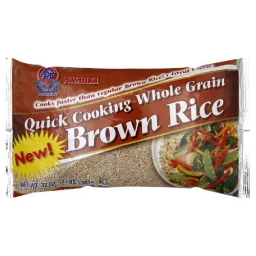 Quick Cook Brown Rice  Nishiki Brown Rice Quick Cooking 32 Ounce Pack of 6