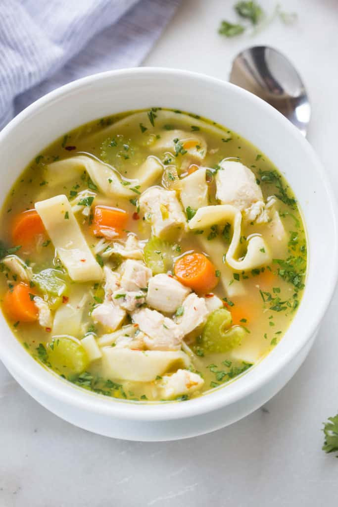 Quick Homemade Chicken Noodle Soup  The BEST Homemade Chicken Noodle Soup