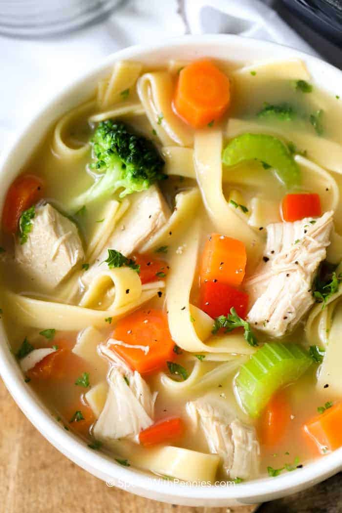 Quick Homemade Chicken Noodle Soup  Homemade Chicken Noodle Soup Spend With Pennies