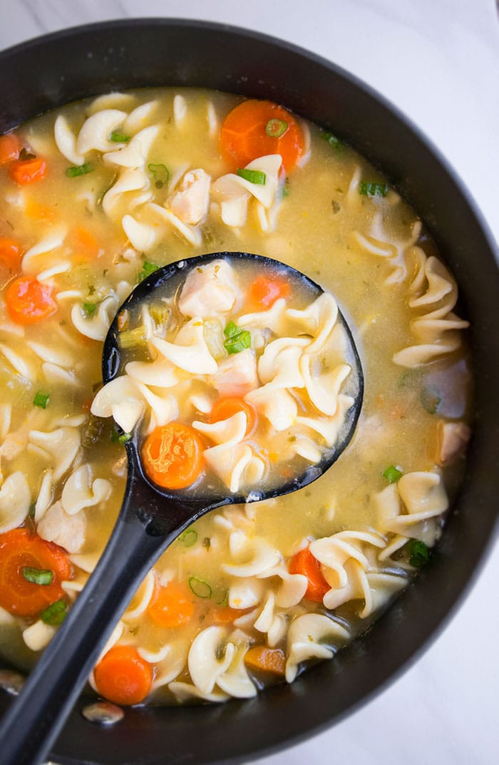 Quick Homemade Chicken Noodle Soup  Easy Homemade Chicken Noodle Soup e Pot