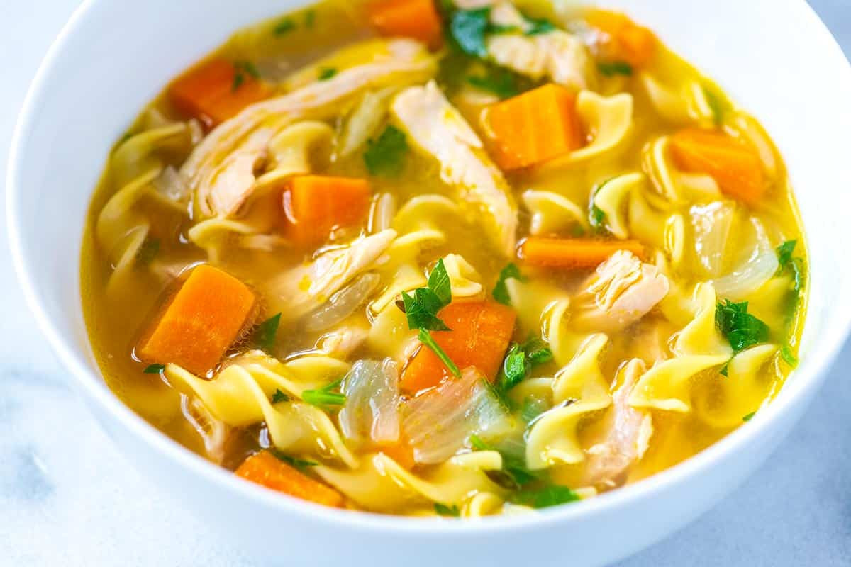 Quick Homemade Chicken Noodle Soup  Ultra Satisfying Chicken Noodle Soup