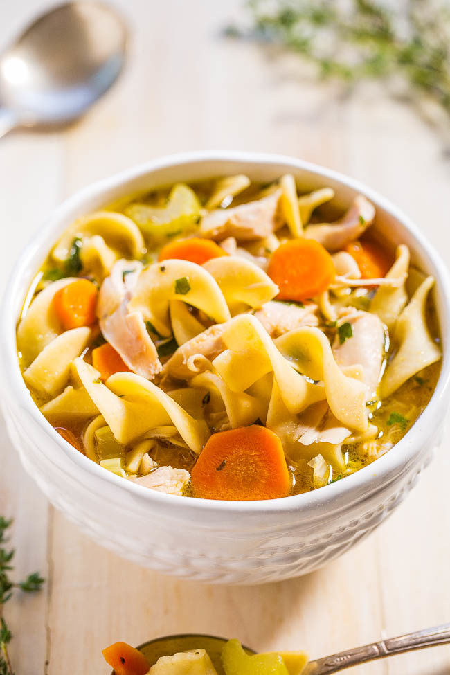 Quick Homemade Chicken Noodle Soup  Easy 30 Minute Homemade Chicken Noodle Soup Averie Cooks