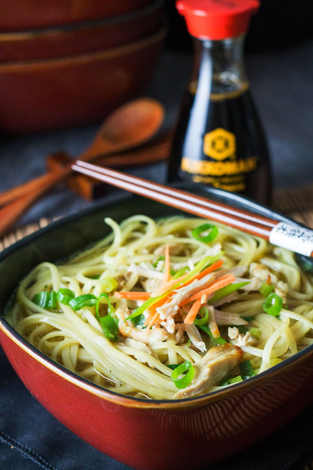 Quick Homemade Chicken Noodle Soup  Quick & Easy Chinese Chicken Noodle Soup Erren s Kitchen