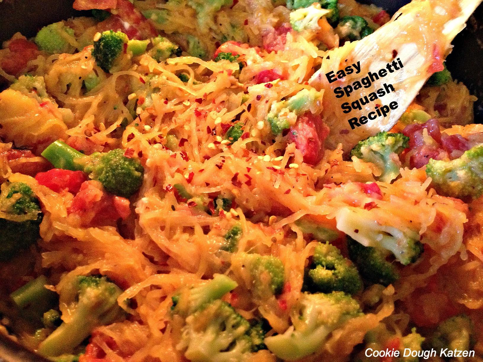 Quick Spaghetti Squash  Lunch Dinner