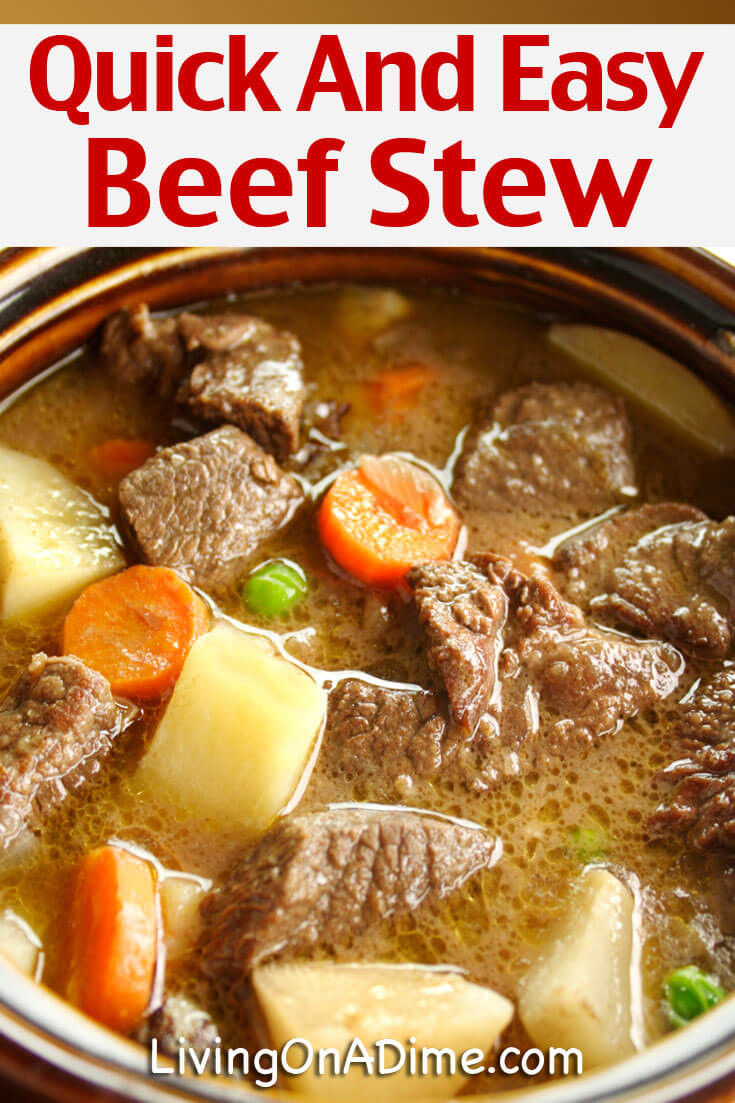 Quick Stew Meat Recipe  Quick And Easy Beef Stew Recipe Mom s Crockpot Beef Stew
