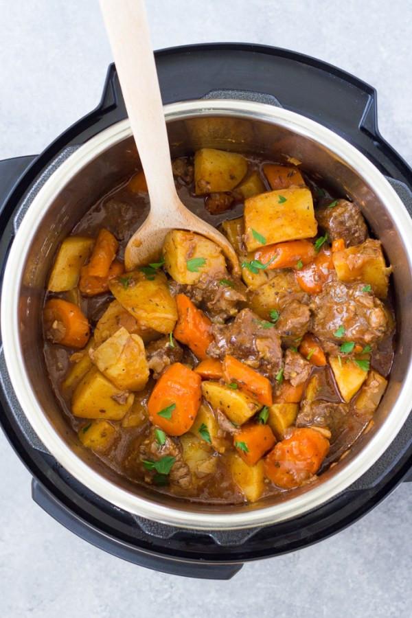 Quick Stew Meat Recipe  Instant Pot Beef Stew Easy Pressure Cooker Recipe