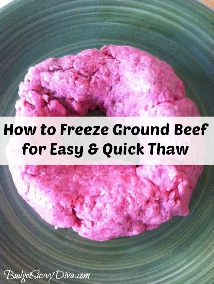 Quickly Thawing Ground Beef  How to Freeze Ground Beef for Quicker Thaw
