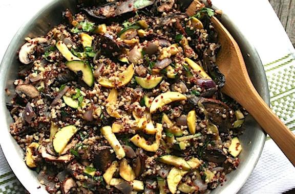 Quinoa Mushroom Recipe  Quinoa with Mixed Squashes and Mushrooms