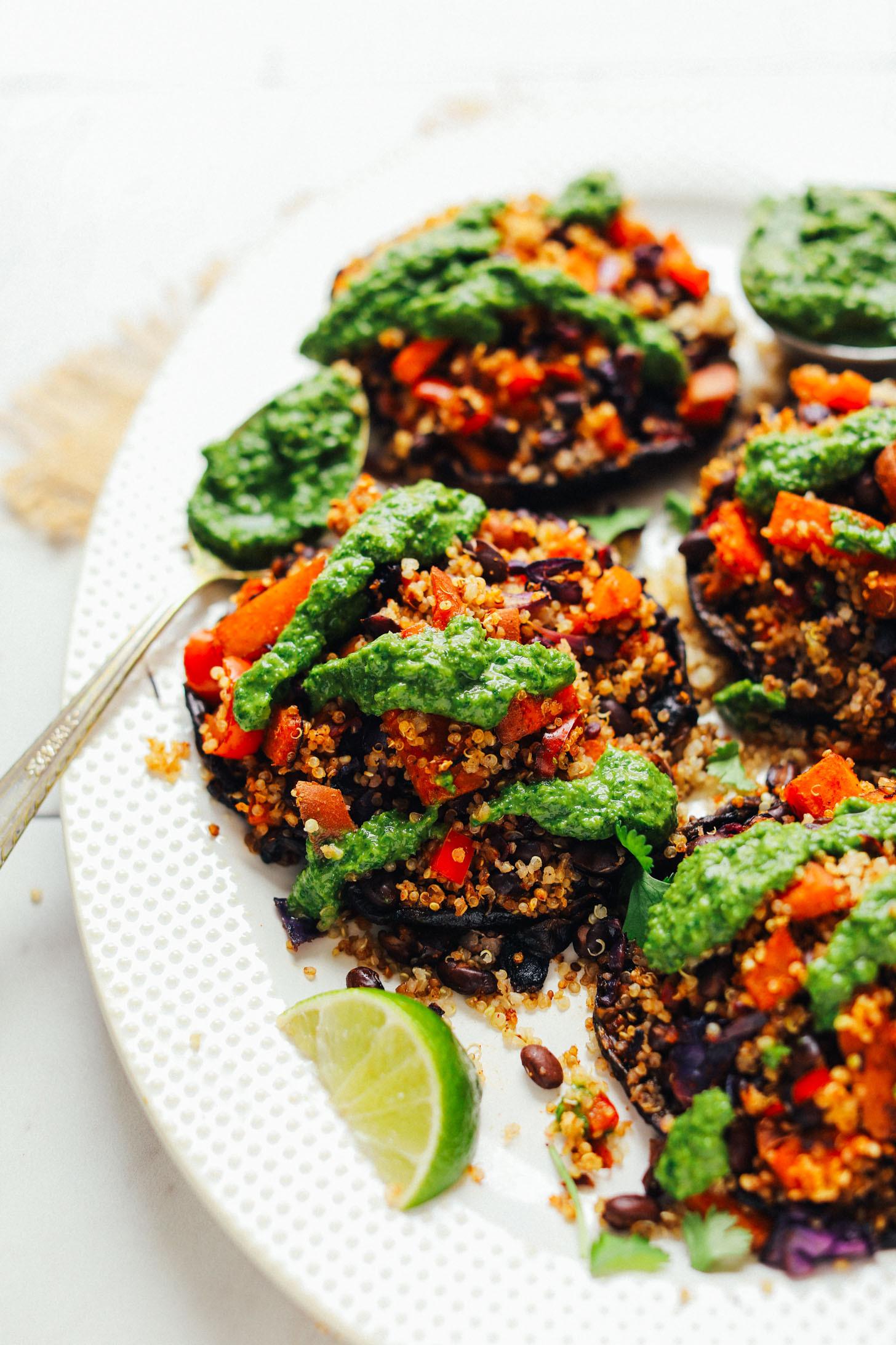 Quinoa Mushroom Recipe  Quinoa & Ve able Stuffed Mushrooms