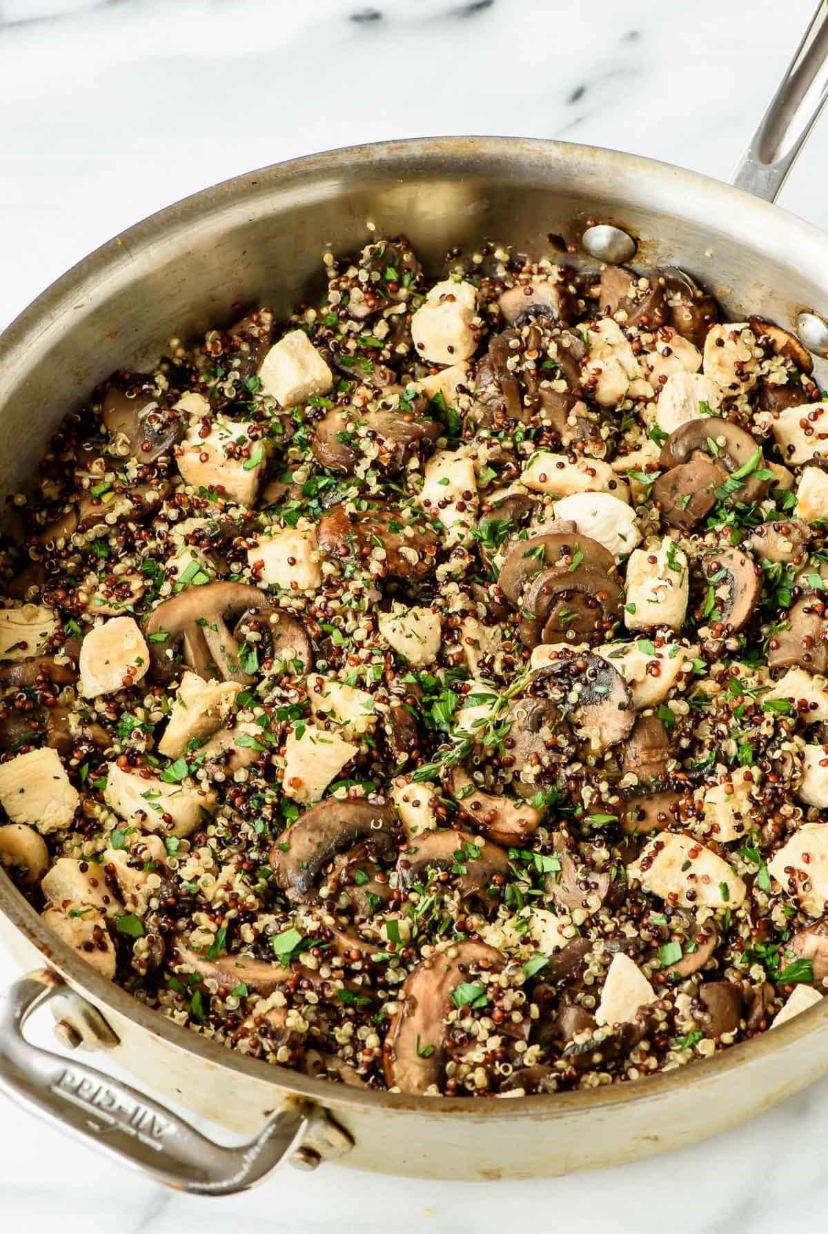 Quinoa Mushroom Recipe  Skillet Mushroom Chicken and Quinoa Recipe