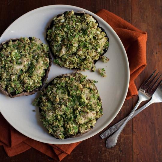 Quinoa Mushroom Recipe  Quinoa Stuffed Portobello Mushrooms Recipe