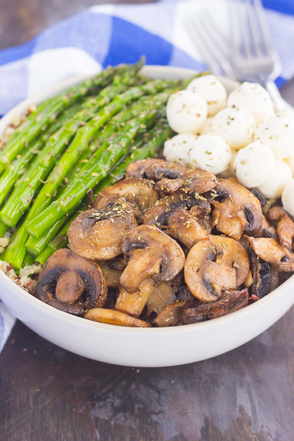 Quinoa Mushroom Recipe  Asparagus and Mushroom Quinoa Bowl Pumpkin N Spice