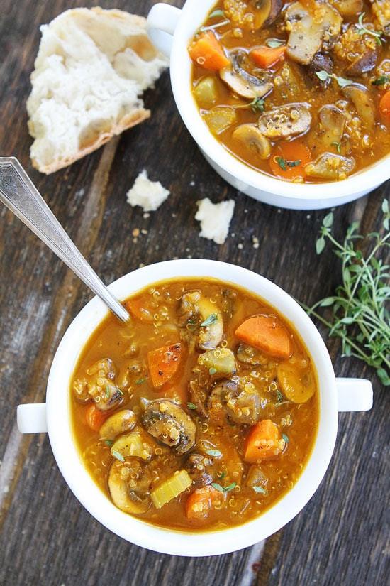Quinoa Mushroom Recipe  Mushroom Quinoa Soup Recipe