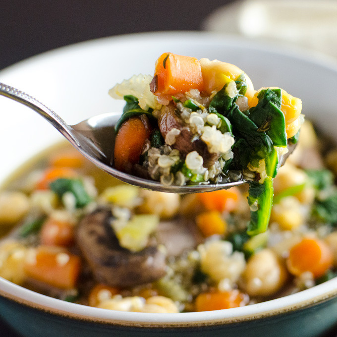 Quinoa Mushroom Recipe  Quick Mushroom Quinoa Soup