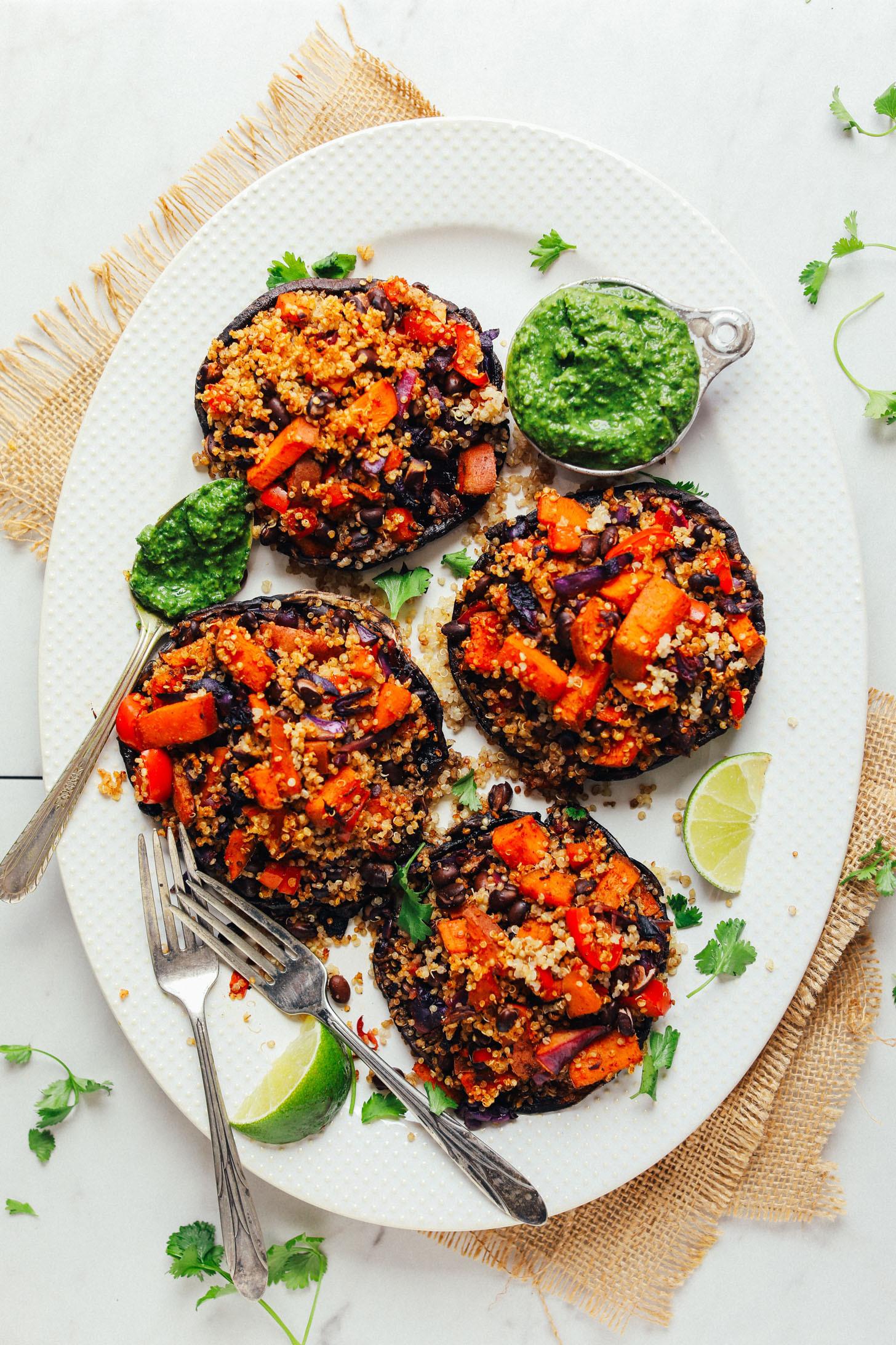 Quinoa Mushroom Recipe  Quinoa & Veggie Stuffed Portobello Mushrooms