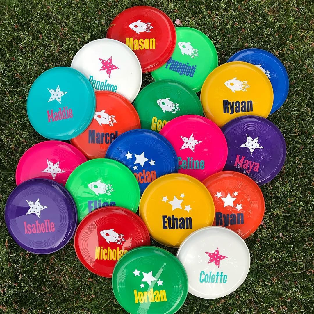 Rainy Day Bachelorette Party Ideas  Some bright frisbee fun on this rainy day Love these