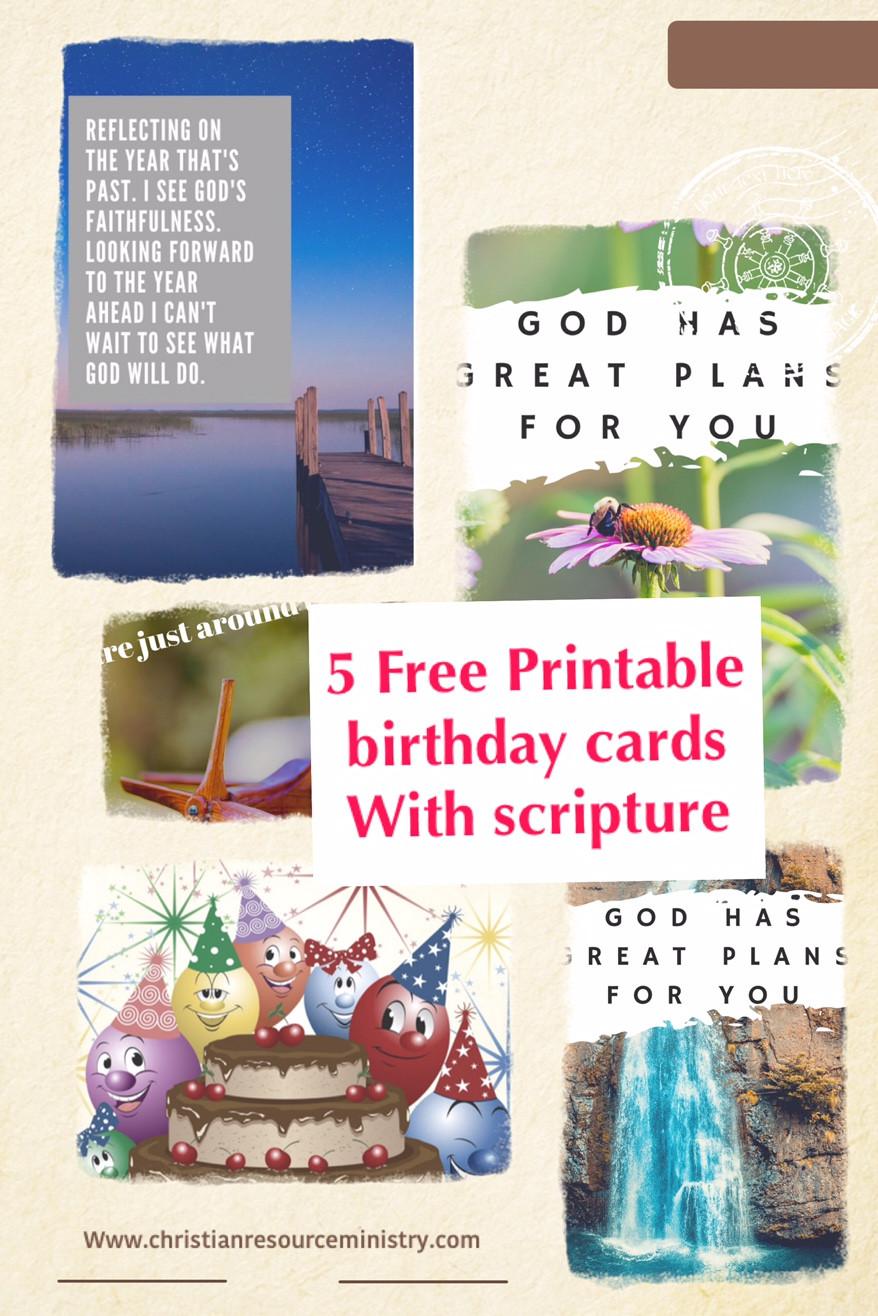 Religious Birthday Cards  5 Free Printable Christian Birthday Cards