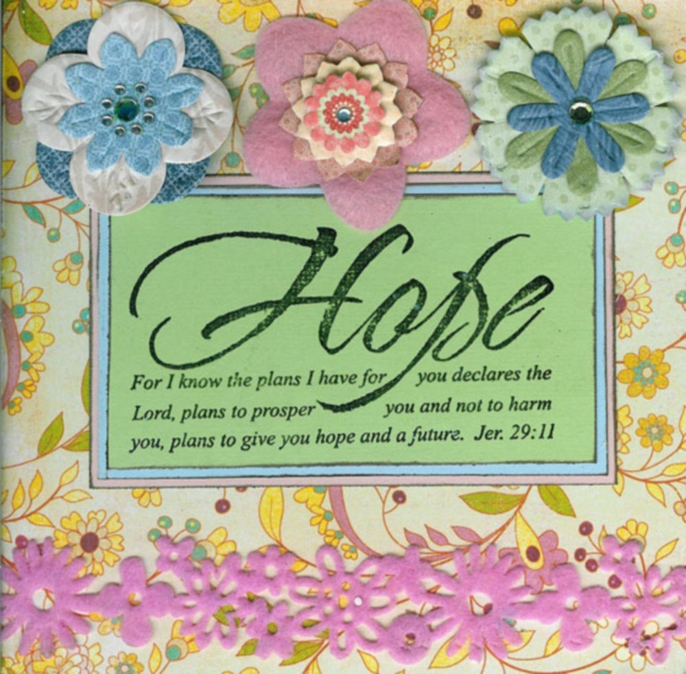 Religious Birthday Cards  Handmade Stamped Christian Greeting Card with Bible Verse on
