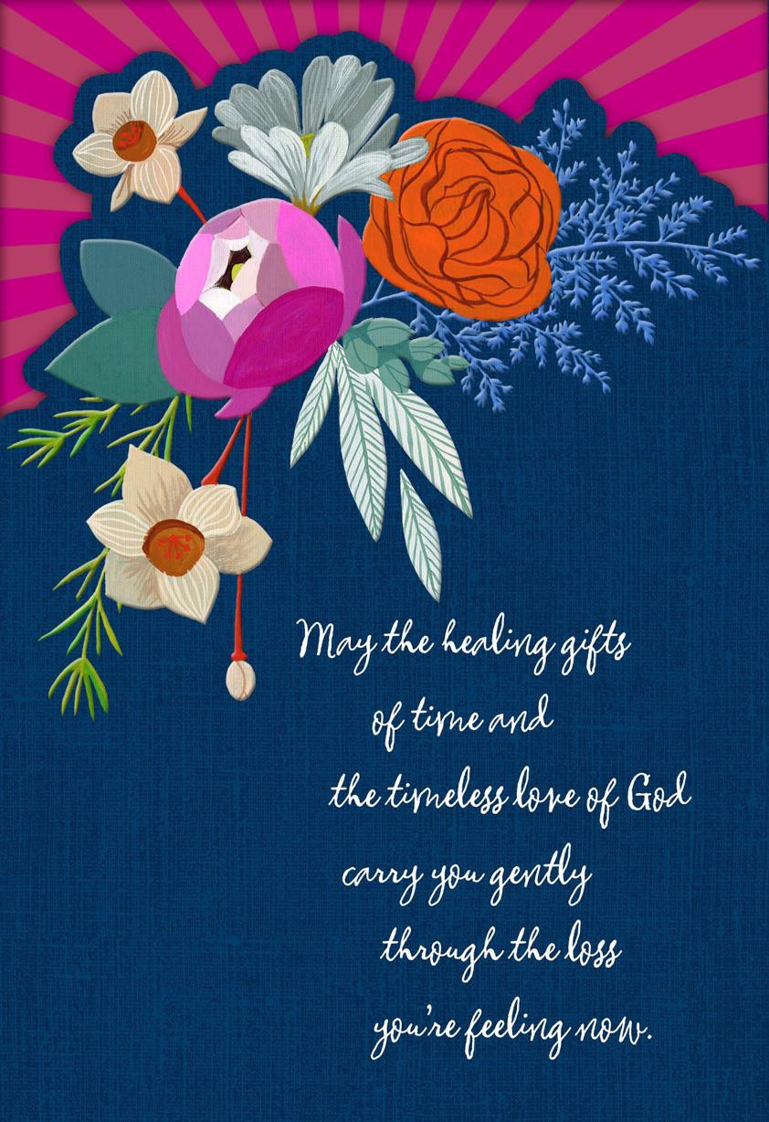 Religious Birthday Cards  Healing Flowers Religious Sympathy Card Greeting Cards