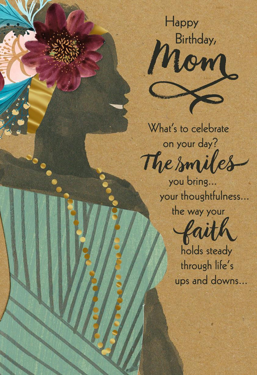 Religious Birthday Cards  You re a Blessing Religious Birthday Card for Mom