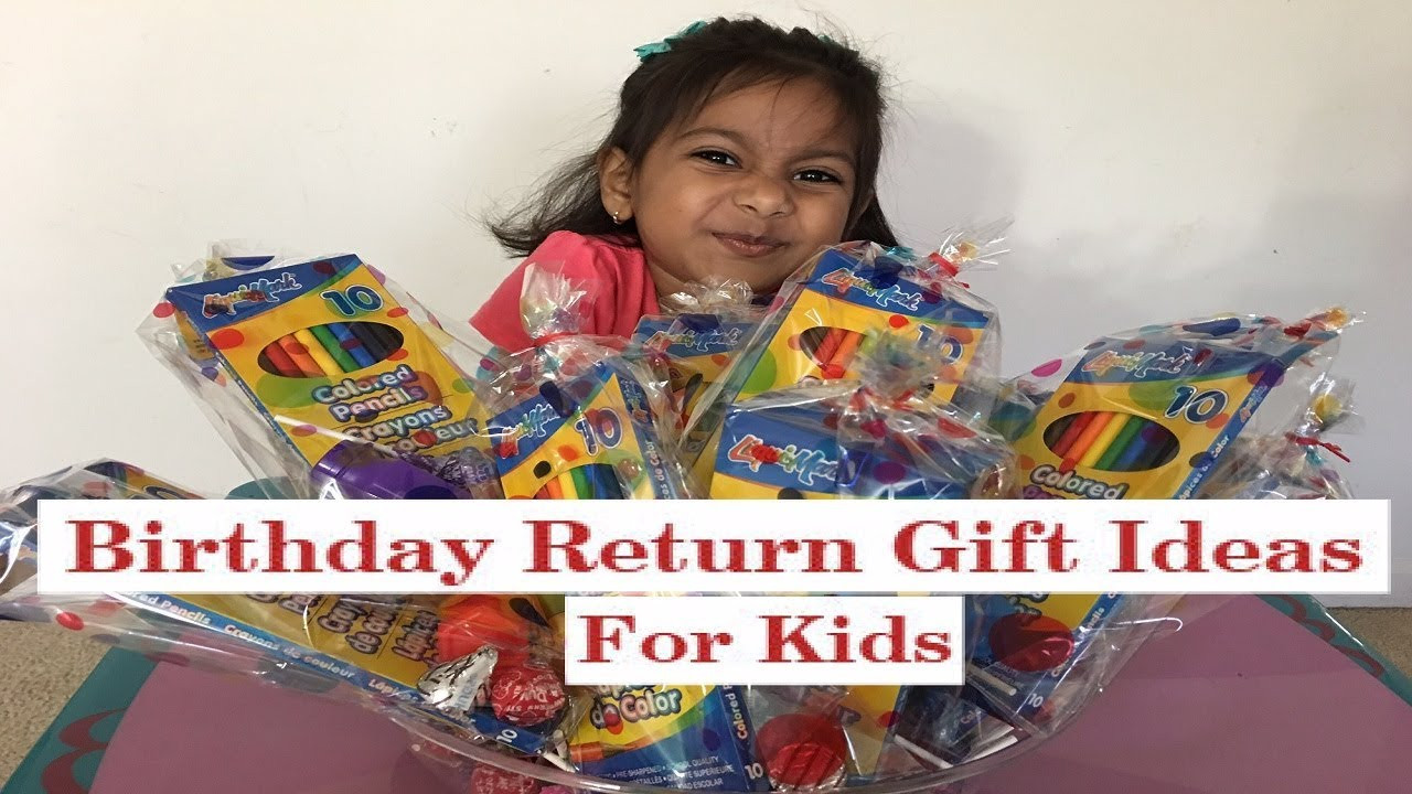 Return Gift Ideas For Kids Birthday Party  Birthday Party Return Gift Ideas for Kids Preschool kids