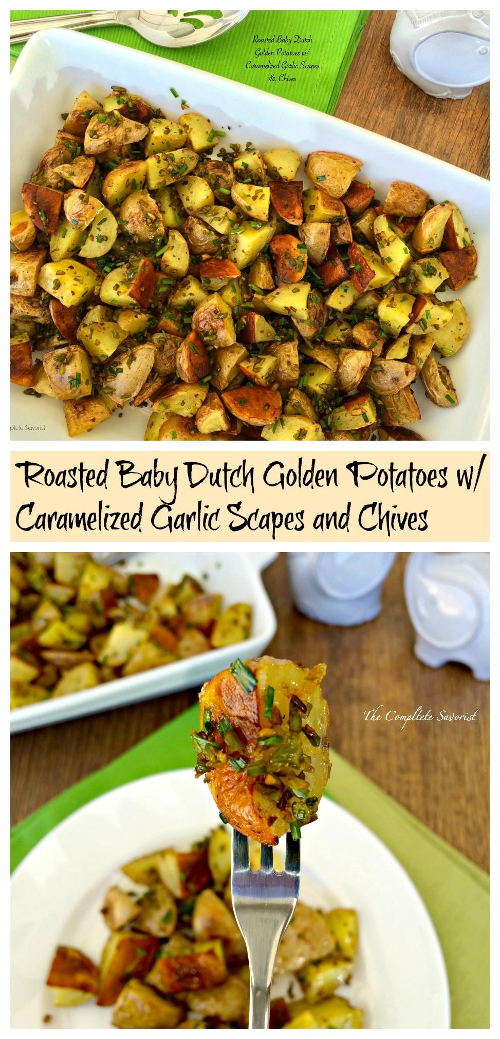 Roasted Baby Dutch Potatoes  Roasted Baby Dutch Golden Potatoes w Caramelized Garlic