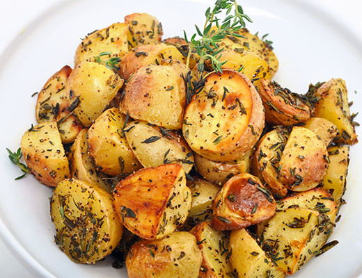 Roasted Baby Dutch Potatoes  Roasted Baby Dutch Yellow Potatoes with Fresh Herbs