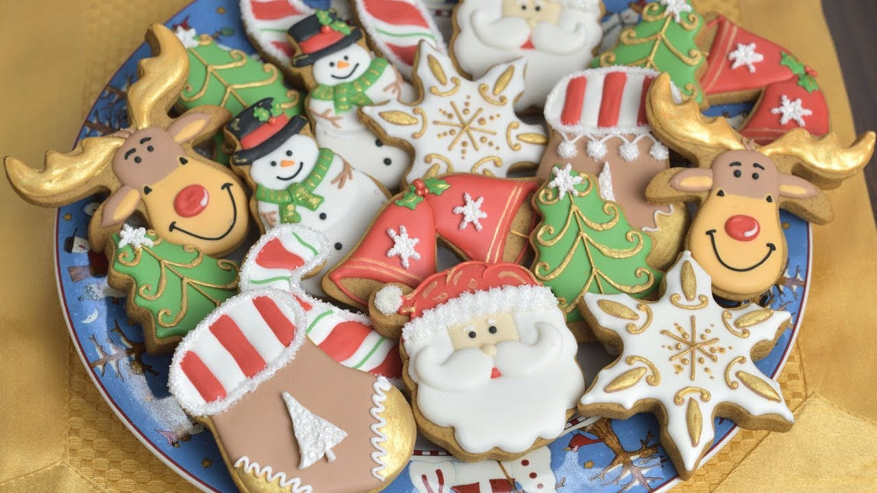 Royal Icing Christmas Cookie  CHRISTMAS COOKIES Decorating with Royal Icing for