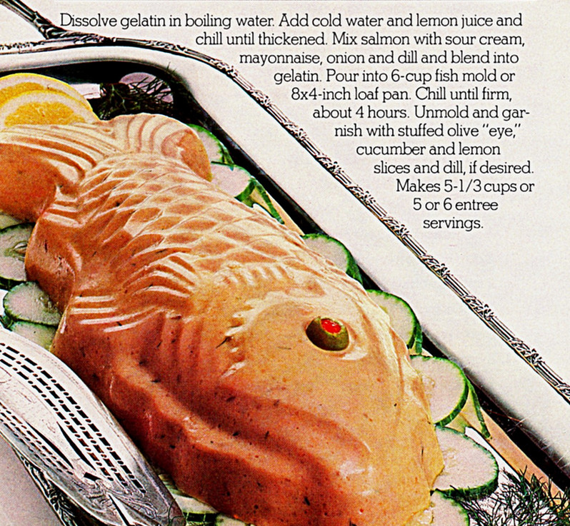 Salmon Mousse Mold  Meals in a Mold The Mid Century's Love Affair with Gelatin