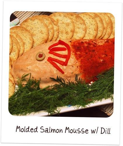 Salmon Mousse Mold  Retro Recipes Molded Salmon Mousse Always Order Dessert