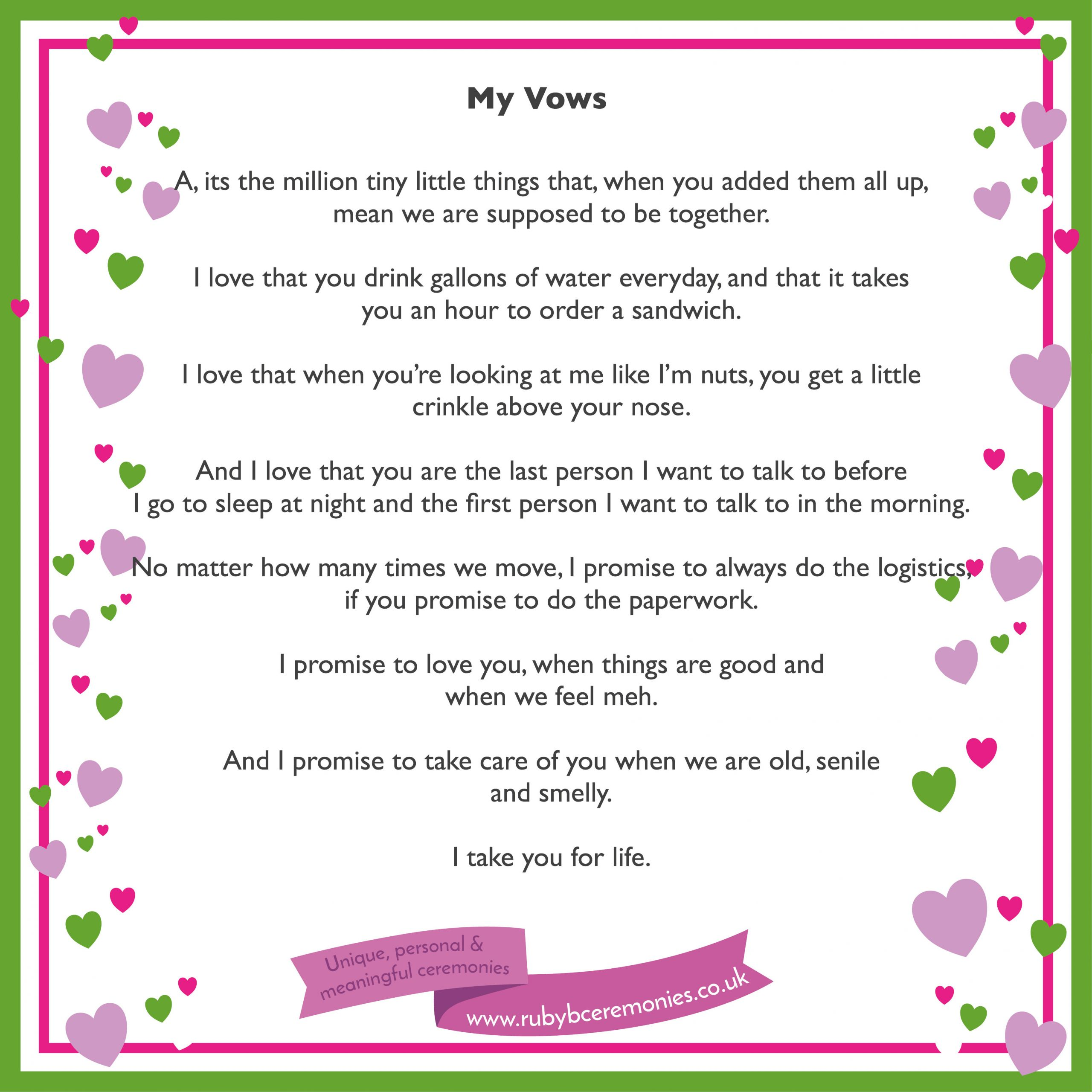 Short Simple Wedding Vows  A simple way to write your wedding vows Ruby B