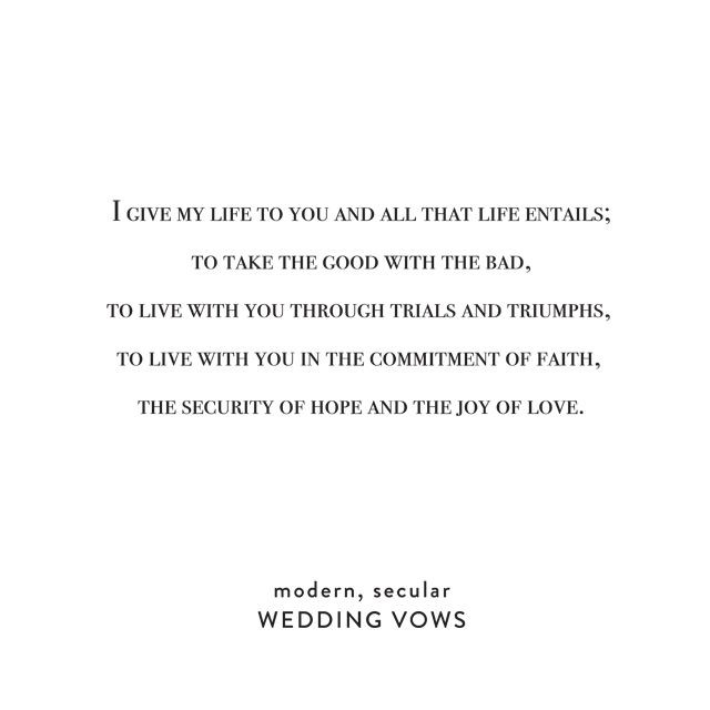 Short Simple Wedding Vows  Simple Wedding Vows on