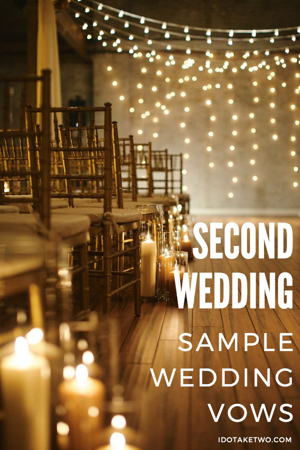 Short Simple Wedding Vows  Second Marriage Ceremony