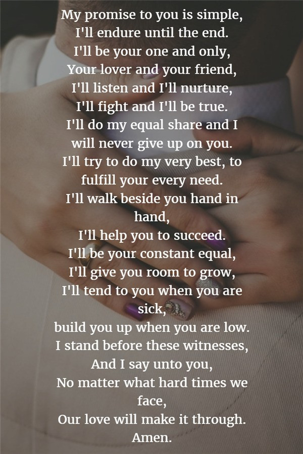 Short Simple Wedding Vows  22 Examples About How to Write Personalized Wedding Vows