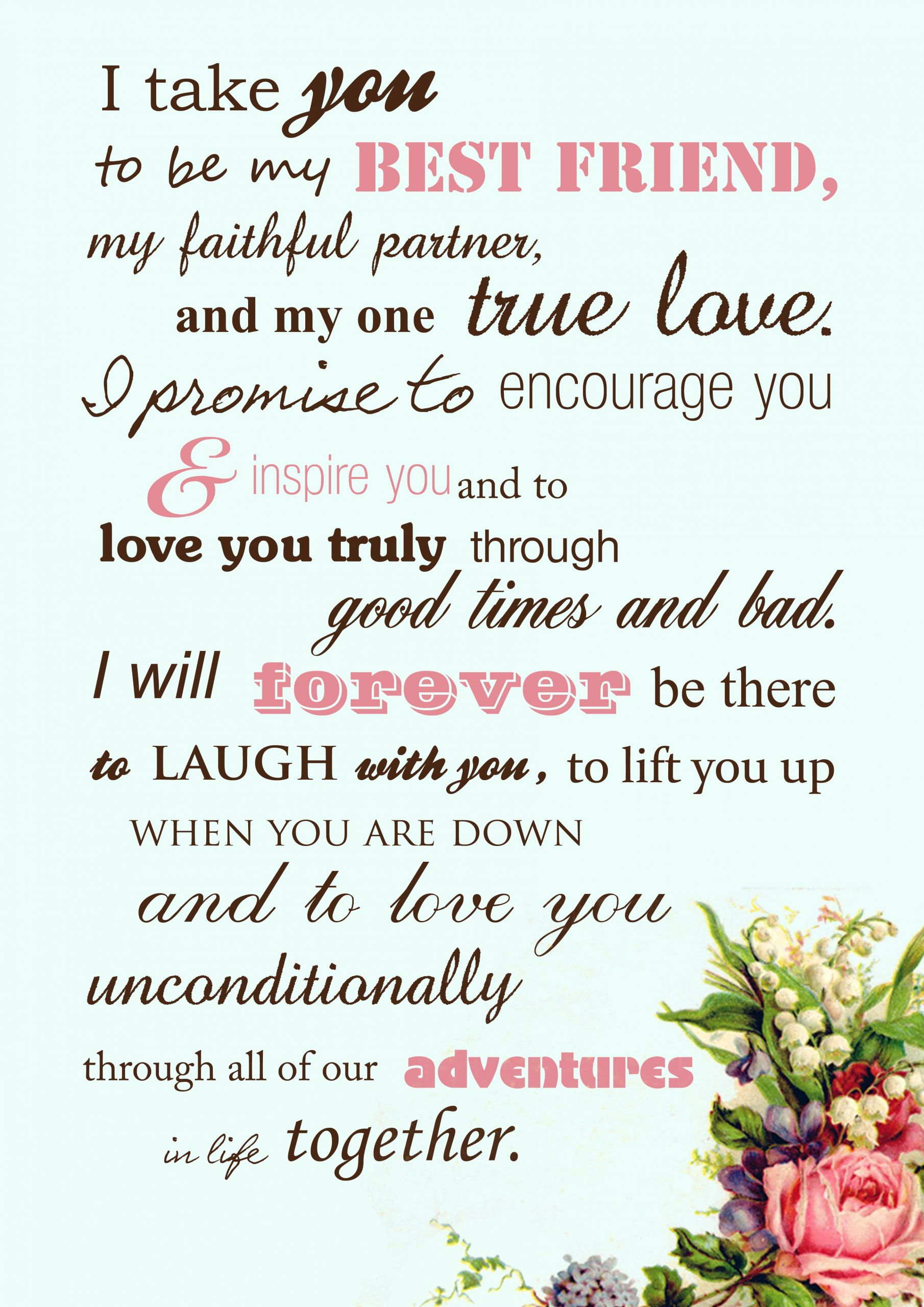 Short Simple Wedding Vows  Beautiful wedding vows instead of the traditional by the
