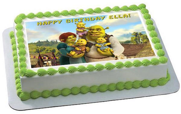 Shrek Birthday Cake  SHREK Edible Cake Topper OR Cupcake Topper – Edible