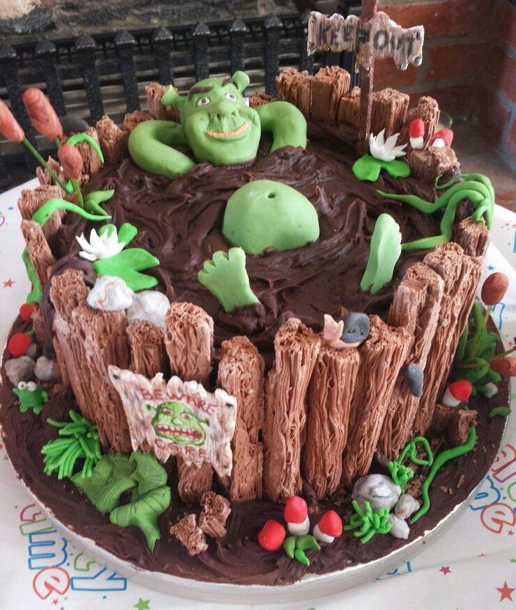 Shrek Birthday Cake  Shrek Swamp Cake