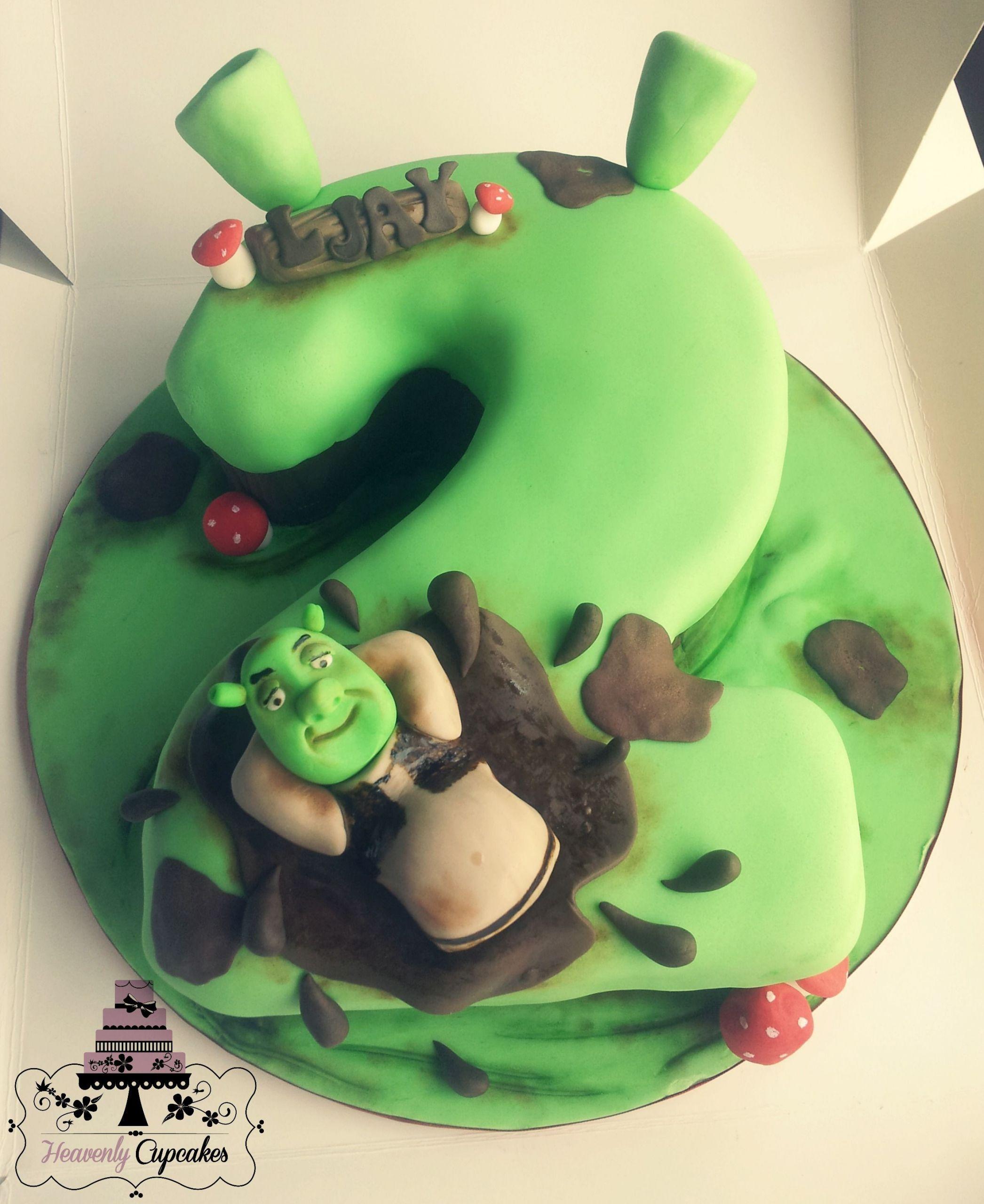 Shrek Birthday Cake  Shrek themed number cake idea for Phillips cake
