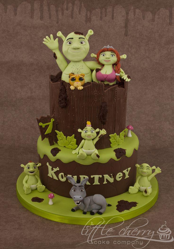 Shrek Birthday Cake  30 best Shrek Cakes images on Pinterest
