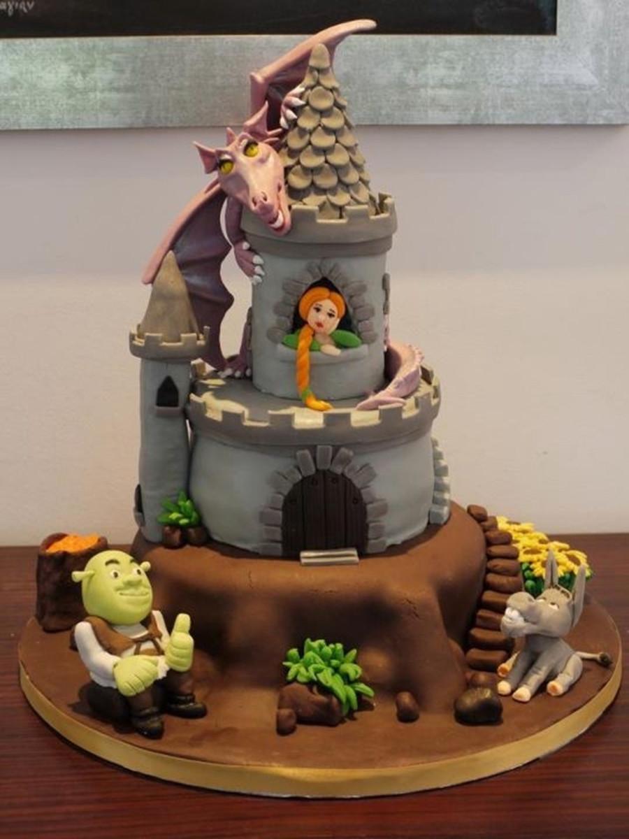 Shrek Birthday Cake  Shrek Cake CakeCentral