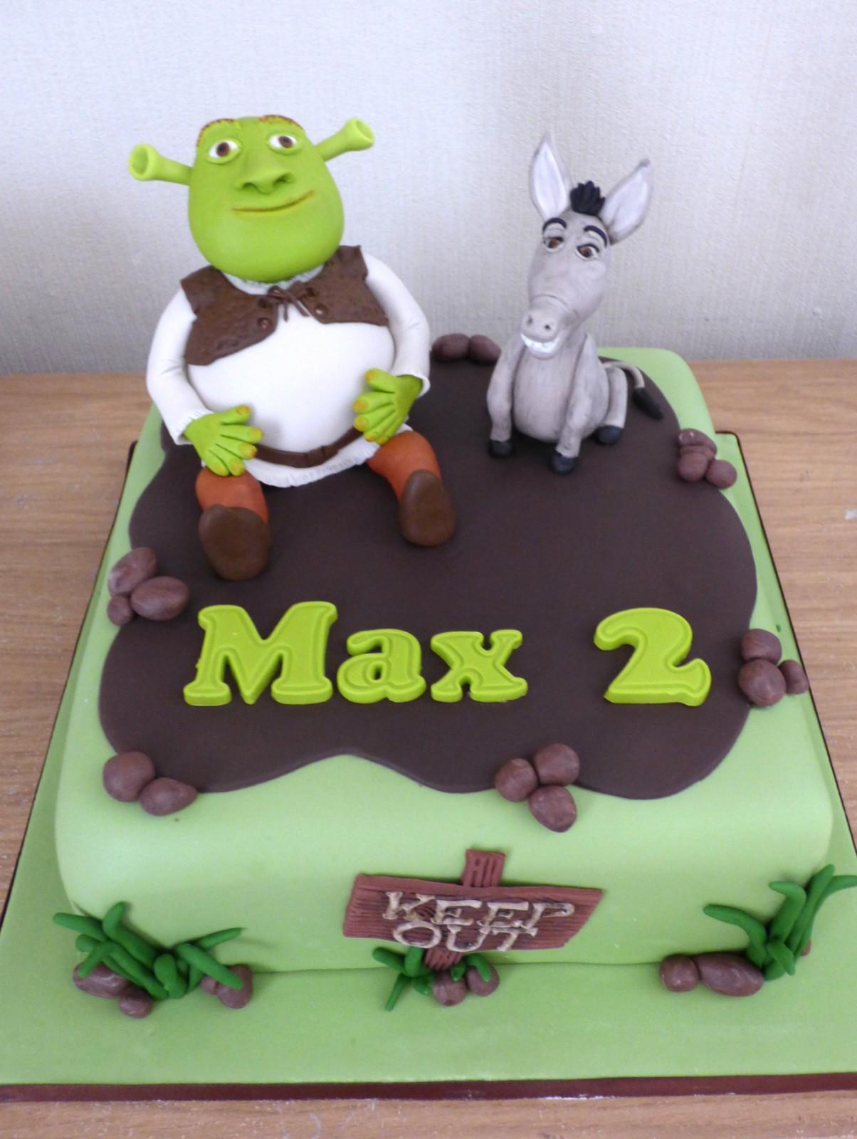 Shrek Birthday Cake  Shrek and Donkey Birthday Cake Susie s Cakes