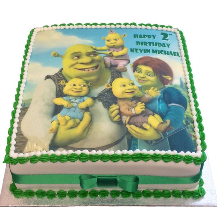Shrek Birthday Cake  Shrek Birthday Cake Flecks Cakes