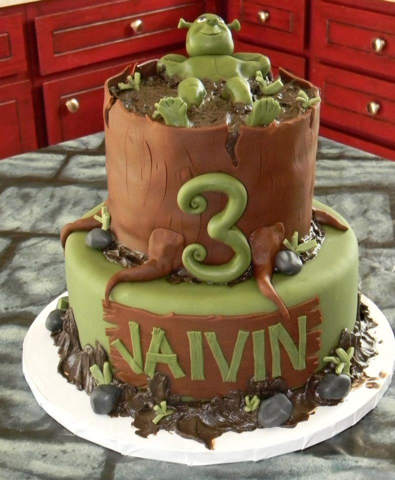 Shrek Birthday Cake  Shrek cake
