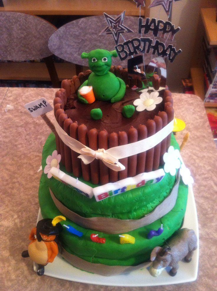 Shrek Birthday Cake  27 best ideas about Shrek cake on Pinterest