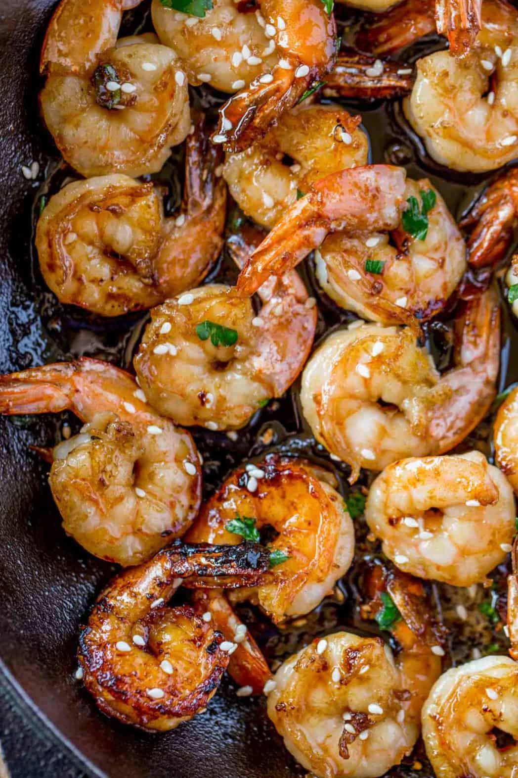 Side Dishes For Seafood  Easy Honey Garlic Shrimp Dinner then Dessert