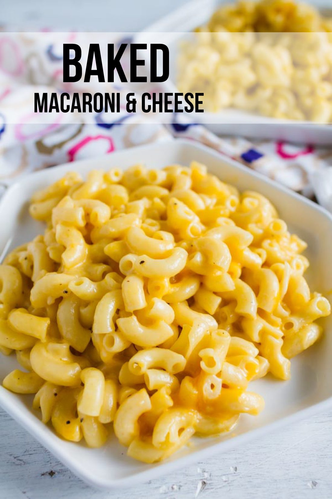 Simple Baked Macaroni And Cheese Recipe  Easy Baked Macaroni and Cheese