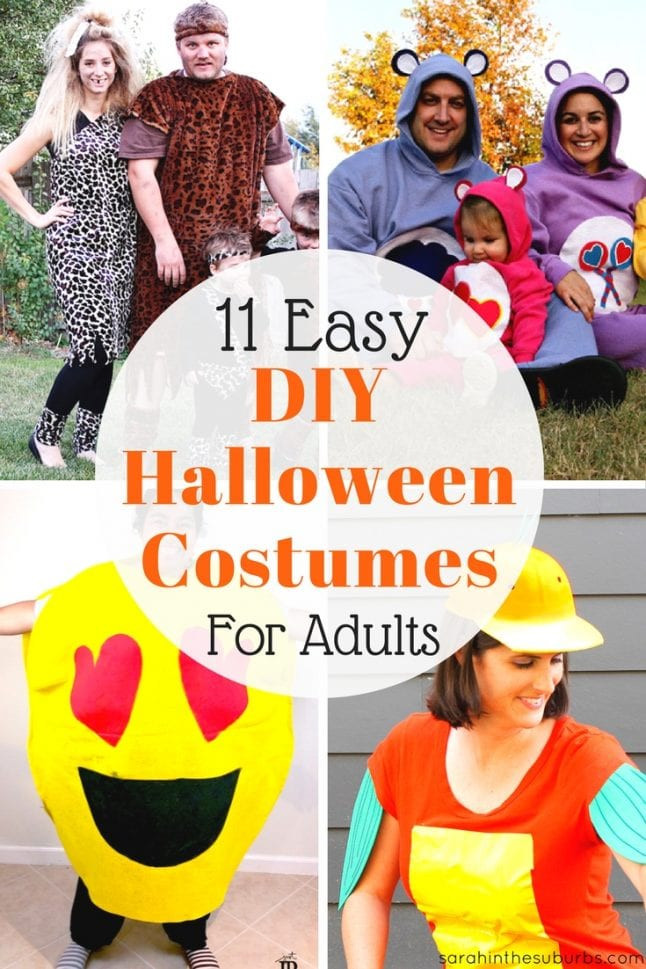 Simple DIY Halloween Costumes For Adults  11 Easy DIY Halloween Costumes for Adults Sarah in the