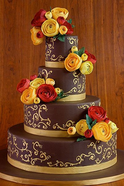 Simple Fall Wedding Cakes  Fall Wedding Inspiration Simple Elegance by Laura