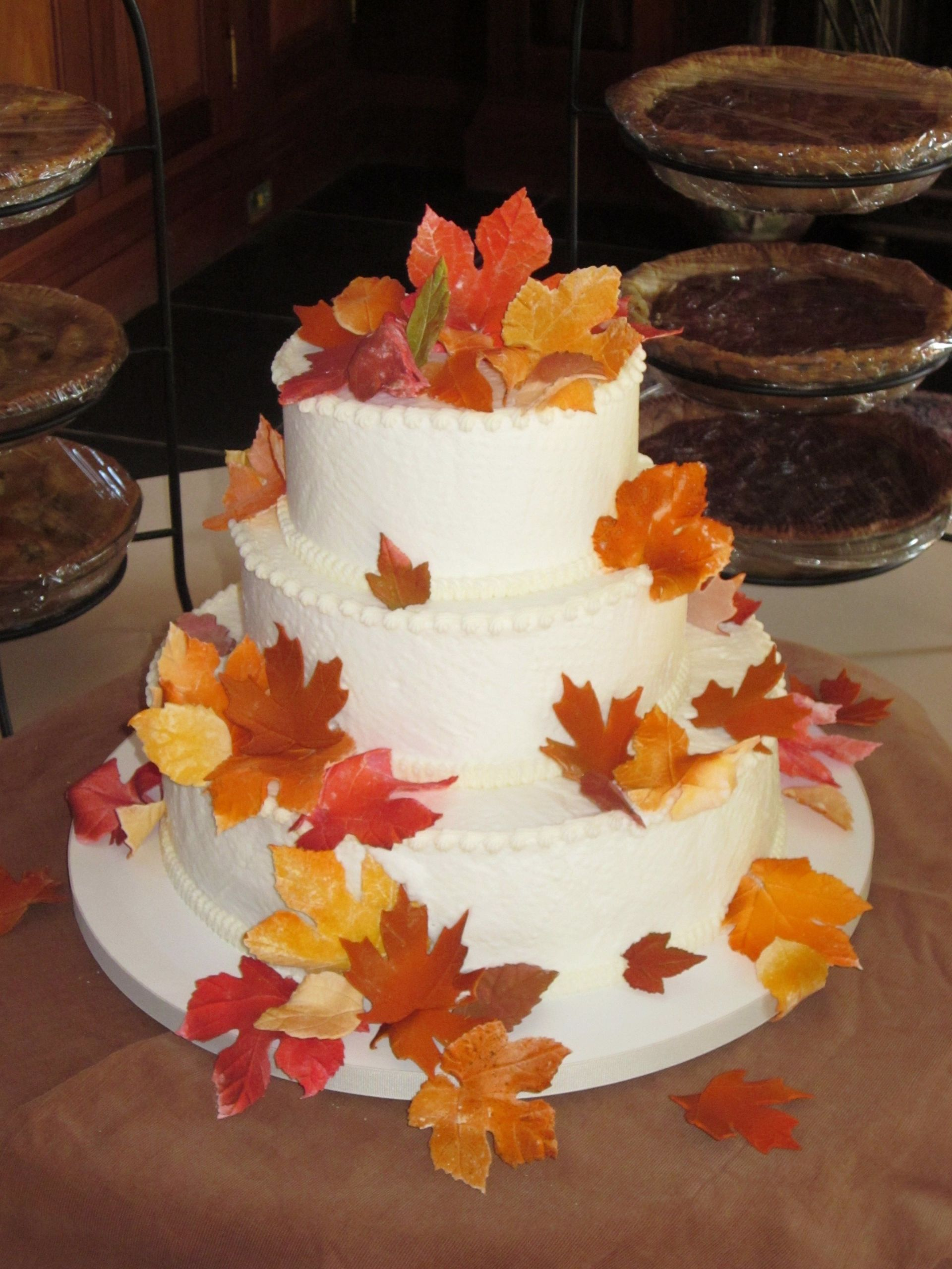 Simple Fall Wedding Cakes  Pin by Cakes by Graham on Wedding Cakes Autumn